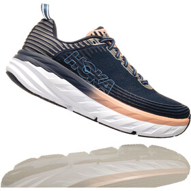 Hoka One One Bondi 6 Running Shoes Women Mood Indigo/Dusty Pink